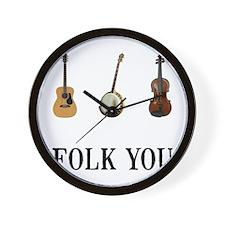 Folk You Wall Clock