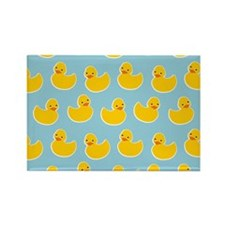 Cute Ducky Pattern Rectangle Magnet