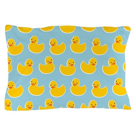 Cute Ducky Pattern Pillow Case by trendyteeshirts