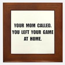 Game At Home Framed Tile