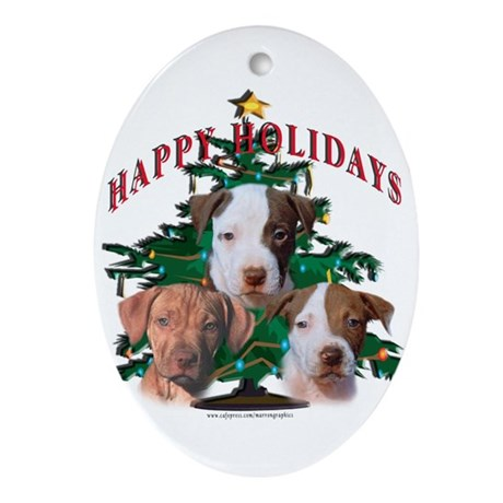 Pit Bull Amstaff ornament Ornament (Oval)
