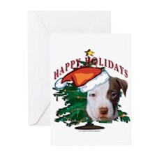 pit bull pups Greeting Cards (Pk of 10)