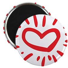 """Lovely Heart 2.25"""" Magnet (100 pack)"""