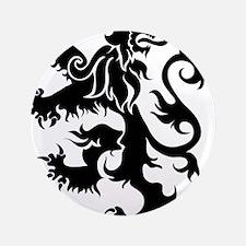 """Heraldry Lion 3.5"""" Button"""