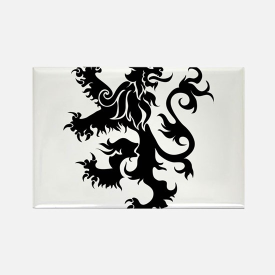Heraldry Lion Rectangle Magnet