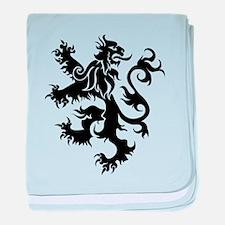 Heraldry Lion baby blanket