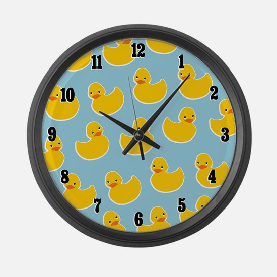 Cute Ducky Pattern Large Wall Clock