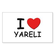 I love Yareli Rectangle Decal