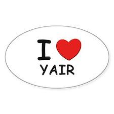 I love Yair Oval Decal