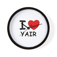 I love Yair Wall Clock