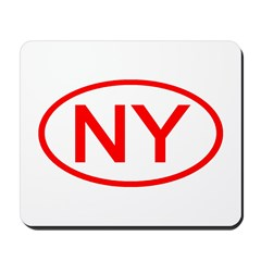 NY Oval - New York Mousepad