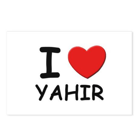 I love Yahir Postcards (Package of 8)