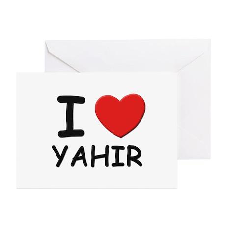 I love Yahir Greeting Cards (Pk of 10)