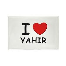 I love Yahir Rectangle Magnet