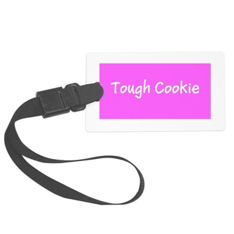 Tough Cookie Breast Cancer Pink Luggage Tag