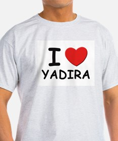 I love Yadira Ash Grey T-Shirt