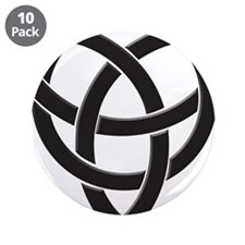 "Celtic Knot Design 3.5"" Button (10 pack)"