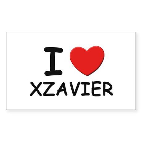 I love Xzavier Rectangle Sticker