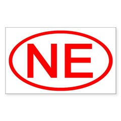 NE Oval - Nebraska Rectangle Decal
