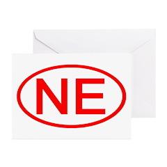 NE Oval - Nebraska Greeting Cards (Pk of 10)