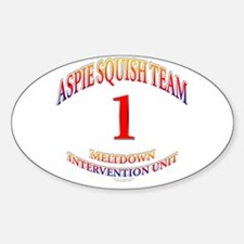 Aspie Squish Team Oval Decal