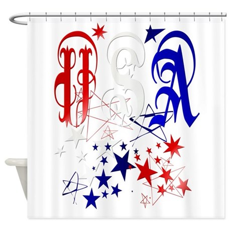 USA with Stars-Celebrate Shower Curtain