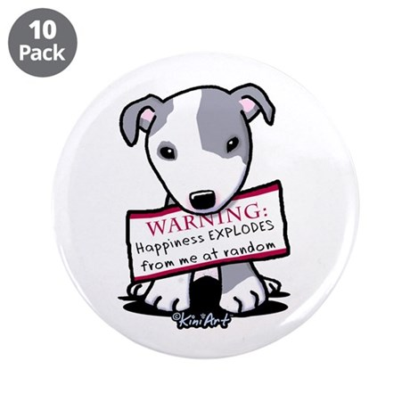 """Vital Signs: HAPPINESS 3.5"""" Button (10 pack)"""