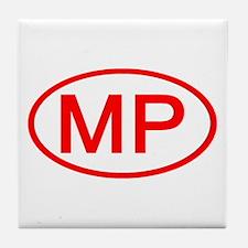 MP Oval - N. Mariana Islands Tile Coaster