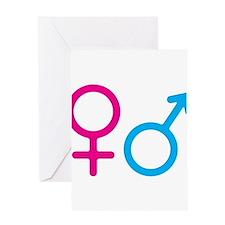 Female and Male Greeting Card