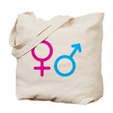 Female and Male Tote Bag