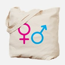 Female and Male Tote Bag