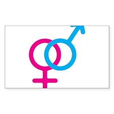 Female/Male Symbol Decal
