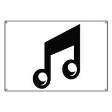 Music Note Banner