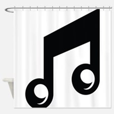 Music Note Shower Curtain