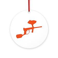 Paintball Gun Ornament (Round)