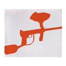 Paintball Gun Throw Blanket