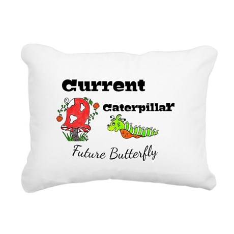 Future Butterfly Rectangular Canvas Pillow