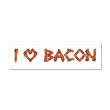 I Love Bacon Car Magnet 10 x 3