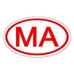 MA Oval - Massachusetts Oval Decal