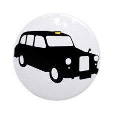 London Taxi Ornament (Round)