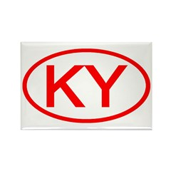 KY Oval - Kentucky Rectangle Magnet (100 pack)