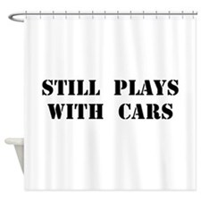 Plays With Cars Shower Curtain