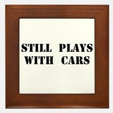 Plays With Cars Framed Tile