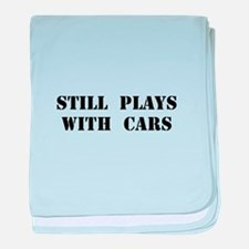 Plays With Cars baby blanket