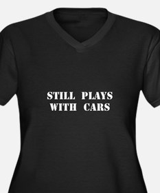 Plays With Cars Plus Size T-Shirt