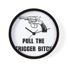 Pull Trigger Wall Clock