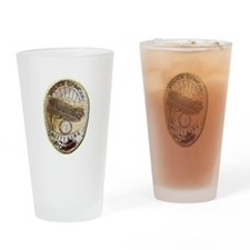 Kitty Hawk Police Drinking Glass