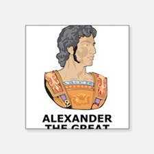 "Alexander The Great Square Sticker 3"" x 3"""