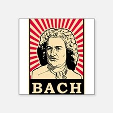 "Pop Art Bach Square Sticker 3"" x 3"""