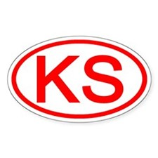 KS Oval - Kansas Oval Decal